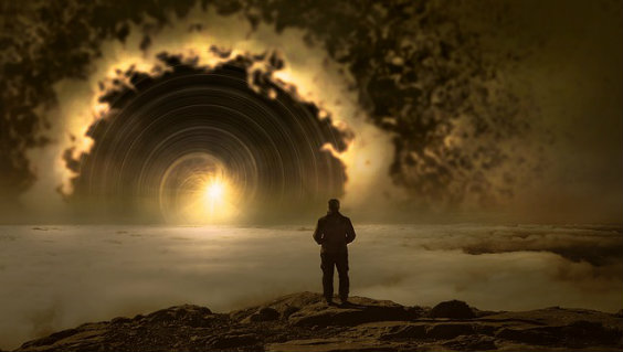 licht tunnel mann wolken jr 564