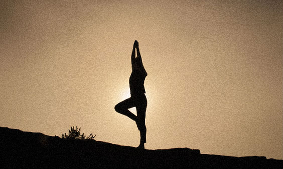 yoga silhouette 564