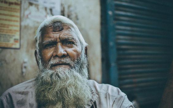 alter mann stirn weise h5 564
