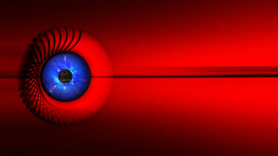 auge rot linie 564