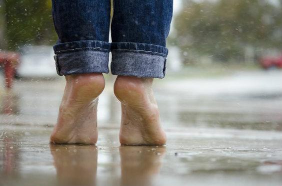 barfuss regen