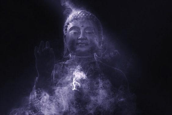 buddha schwarz lila 564