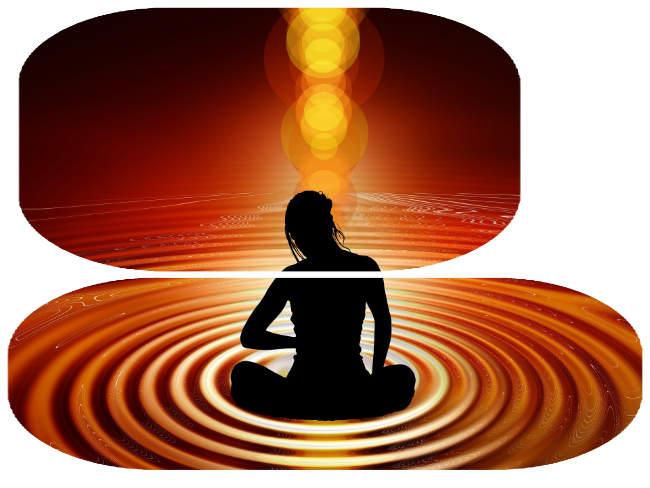 Frau in Kreisen Yoga