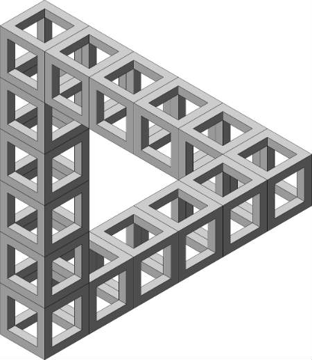illusion dreieck