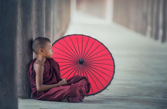 junge buddhismus schirm weg 6 564