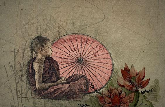 meditation junge zeichnung 564