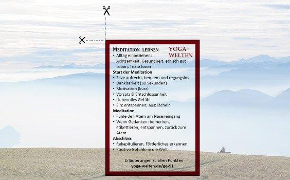 merkkarte meditation lernen
