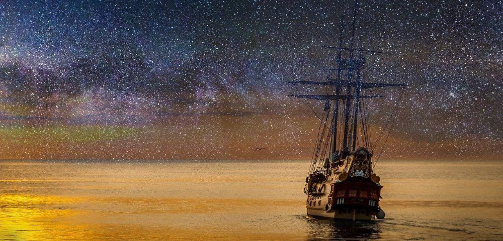 schiff traum meer sterne 1000
