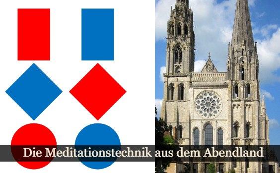 Die Tafeln und die Kathedrale von Chartres