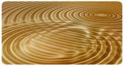 Wellen in gold