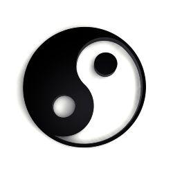 ying yang rahmen